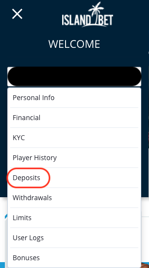 Deposits section
